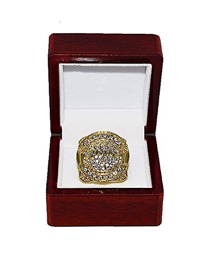 LOS ANGELES LAKERS (Kobe Bryant) 2010 NBA FINALS WORLD CHAMPIONS (Playing Vs. Boston Celtics) Rare & Collectible Replica NBA Basketball Gold Championship Ring with Cherrywood Display Box