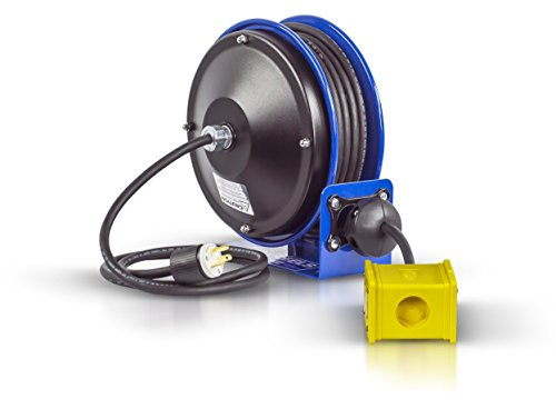 Industrial Plug - Coxreels PC10-3012-B Compact efficient heavy duty power cord reel with a quad