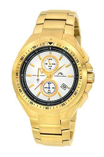porsamo Bleu Damien Acero Inoxidable Dorado Hombre Reloj Cronógrafo 311bdas: Amazon.es: Relojes