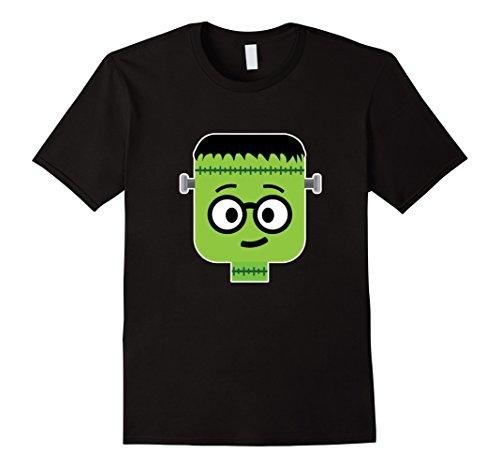 Men's Frankenstein Nerd Emoji T-Shirt Halloween Costume Gift Medium Black (Cute Girl Nerd Costumes Halloween)