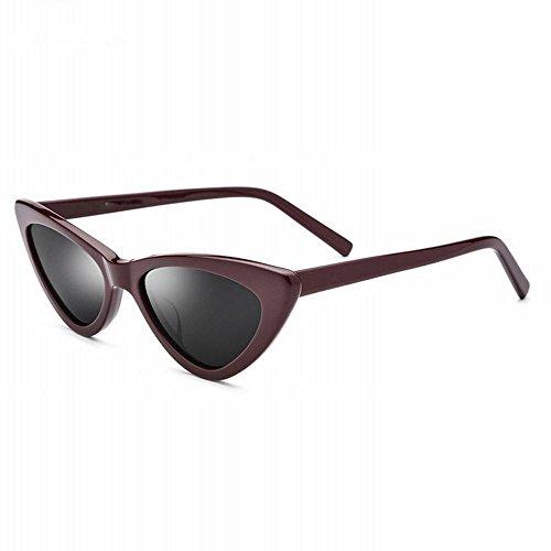 de retro moda Gafas de sol de mujer de y UN Un gafas triángulo gafas tamaño pequeño modelos gato de americano de de europeo estilo AN sol ojo wPAqRaa