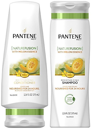 Pantene Pro-V Nature Fusion with Melon Essence, DUO Set Moisturizing Shampoo + Conditioner, 12.6 Ounce, 1 Each
