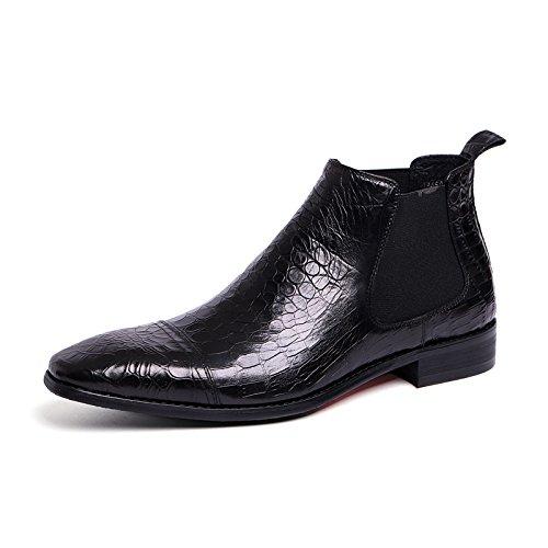 Männer hohe lederschuhe martin stiefel für männer hohe lederschuhe englisch chelsea kurze stiefel,schwarz,39