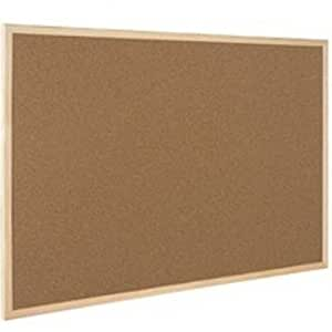 Q-Connect KF03567 - Tablero de corcho con marco de madera (600 x 900 mm)
