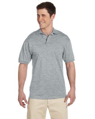 Adult Fashion Polo (Jerzees J100 Adult's Heavyweight Cotton Jersey Knit Sport Shirt Birch XX-Large)
