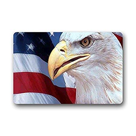 TSlook Doormat Patriotic American Flag Indoor/Outdoor/Front Welcome Door Mat(30