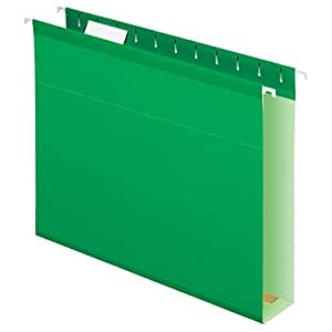 Pendaflex Extra Capacity Reinforced Hanging Folders, Letter Size, Bright Green, 25 per Box (04152X2 BGR)