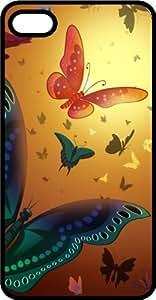 Dreamy Butterflies Black Plastic Case for Apple iPhone 6