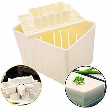 Tofu - Molde de prensa para hacer tofu y hacer manualidades, juego de moldes de cocina: Amazon.es: Hogar