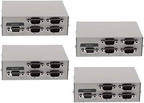 H HILABEE 4Pcs 4Ports RS232 Serial Manual para Compartir Datos ...