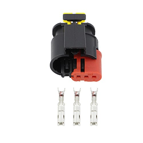CNLW 1 Set 3 Pin DJ7031C-1.5-21 Waterproof Automotive Wire Connector Sealed Sensor Fuel/Diesel Injector Ignition coil Connector: