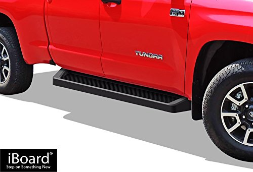 APS iBoard (Black Powder Coated Running Board Style) Running Boards | Nerf Bars | Side Steps | Step Rails for 2007-2018 Toyota Tundra Double Cab Pickup 4-Door -