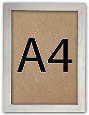 Kit 10 Molduras para quadro A4 21x30 Certificado Diploma Com Vidro (Branco)