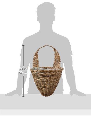 Gardman r299 rustic rattan half hive hanging wall basket 13 wide x 10 deep furniture futon frames - Wicker beehive basket ...