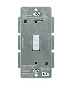 GE Z-Wave Wireless Lighting Control Smart Toggle Switch, In-Wall, White, 12727