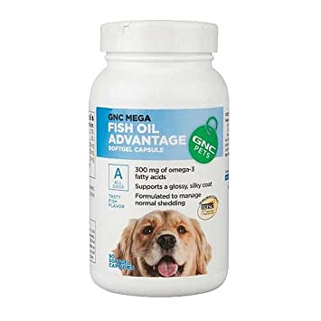 GNC Pets Mega Fish Oil Advantage for All Dogs – Fish Flavor 90 Softgel Capsules