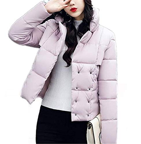 Colori Winter Down Girl Warm Ladies Lunga Saoye Solidi Clothes Confortevole Elegante Manica Transition Coat Fashion Rosa Outdoor Short RAwxPpq