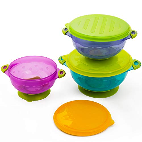 Stay Put Baby Feeding Bowls,3 Size Baby Bowl Set,Baby Utensils Bowls,Bpa Free