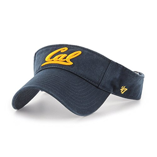 (Shop College Wear UC Berkeley Golden Bears Cal Visor by 47 Brand- Navy)