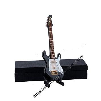 ZAMTAC - Réplica de Guitarra de violín en Miniatura Personalizada con Soporte y Estuche para Mini Instrumentos Musicales de Navidad - (Color: Guitarra ...