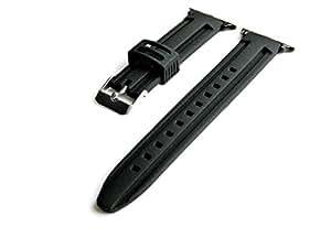 Reemplazo 42mm Apple Watch Modelos Correa Banda con Acero Inoxidable Pulido de Color Negro PVD Barra de Resorte Adaptadores (B-RASDMD24)
