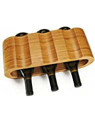 hala mod bamboo 6bottle wine rack