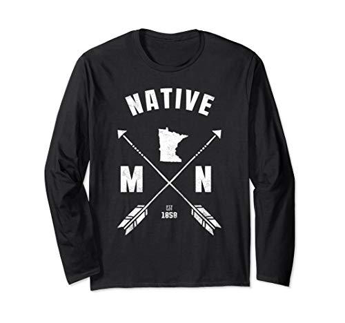 Crossed Arrows Minnesota Native  Long Sleeve T-Shirt ()