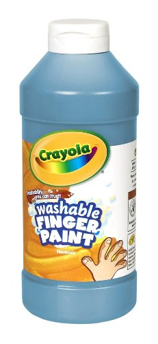 Binney & Smith Crayola(R) Washable Finger Paint, 16 Oz., - 16 Finger Oz Washable Paint