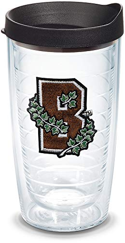 Tervis 1145768 Brown Bears Logo Tumbler with Emblem and Black Lid 16oz, Clear