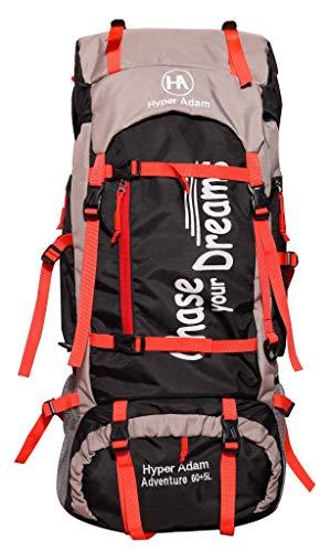 Hyper Adam 65 L Rucksack Hiking Backpack Trekking Bag Camping Bag Travel Backpack Outdoor Sport Rucksack Bag 65 Ltrs (Black) Price & Reviews