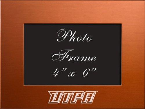 University of Texas–Pan American - 4x6 Brushed Metal Picture Frame - Orange