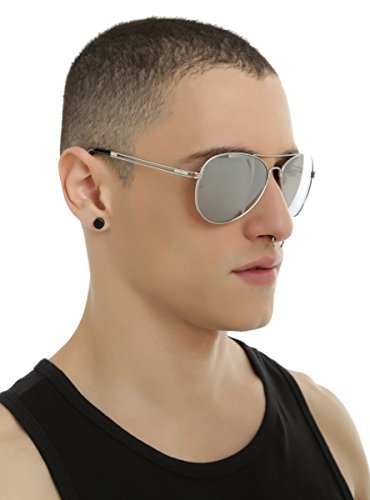 Silver Mirror Aviator - Hot Topic Sunglasses