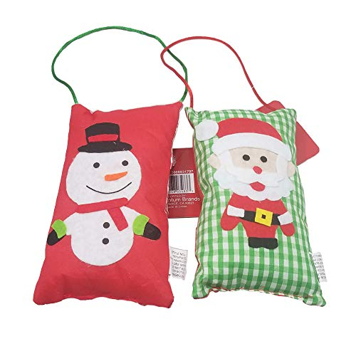 Happy Holidays Santa and Snowman Decorative Door Knob Hanger (Snowman and Santa)