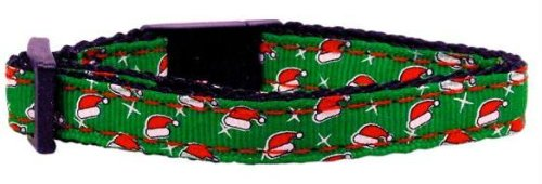 Santa Hat Nylon And Ribbon Collars . Cat Safety (24 Pack) [Misc.]