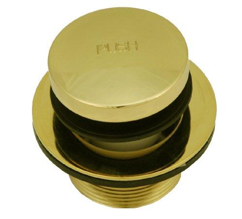 Bathtub Tub Replacement Drain Trim kit - Polish Brass Finish, Tip Toe Type, By Plumb USA by PlumbUSA (Image #1)