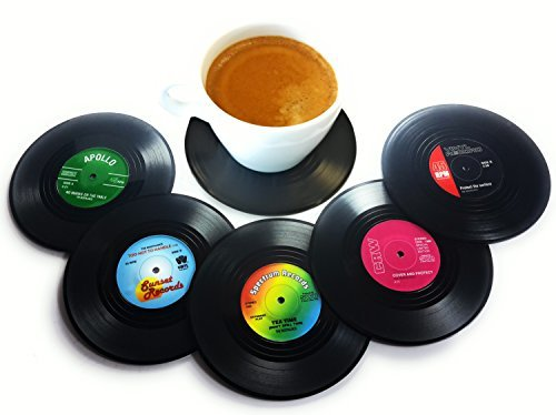 50s Decoration Ideas - Vinyl Record Disc Coasters | Set