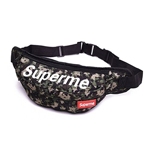 Bemall Hip Hop Style Men Women Casual Waist Bag Letter Printed Travel Waist Pack by Bemall