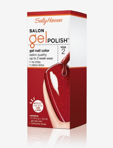 Sally Hansen Salon Gel Polish Red Haute 107 Buy Online In Uae Health And Beauty Products