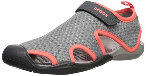 Women Crocs Mesh Fermé Grey White Femme pearl light Gris Bout Sandals 01s Swiftwater qtrHnAt