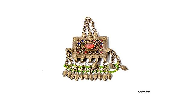 Afghan tribal Vintage small pendant Headdress,Gypsy   Headdress,Belly Dance jewelry,Tribal Hair Jewelry,Kuchi head piece,Ethnic hair jewelry