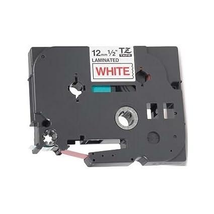 Nastro laminato Compatibile per Brother P-Touch TZ 12mm x 8m TZe-232 TZ-232 Rosso su Bianco Cartridges Kingdom no Brother Original