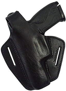 VlaMiTex B2Li Funda de Pistola de Cuero, para el cinturón, para Pistolas S&W M&P9, M&P9L y Pro Series M&P40, para Zurdos, Negro