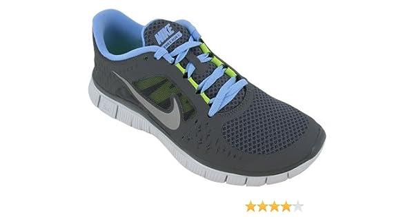 newest d54c5 f23cd Amazon.com   Nike Free Run+3 Womens Running Shoes Dark Grey Reflective  Silver-Pure Platinum-Pear 510643-004, 5.5   Road Running