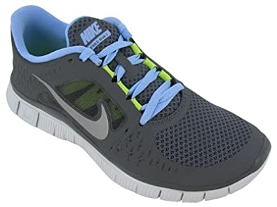 best service 8e0e0 bf9cf Nike Free Run+3 Womens Running Shoes Dark Grey Reflective Silver-Pure  Platinum