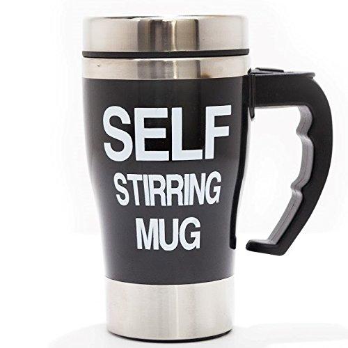 Self Stirring Coffee Mug Black - 2