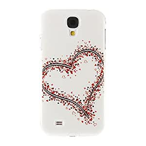 Mini - Flower Hearts Pattern Plastic Protective Hard Back Case Cover for Samsung Galaxy S4 I9500