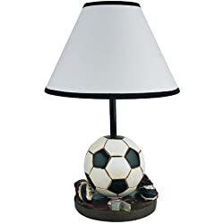 Soccer Table Lamp Girls Boys Kids Room Decorative Light