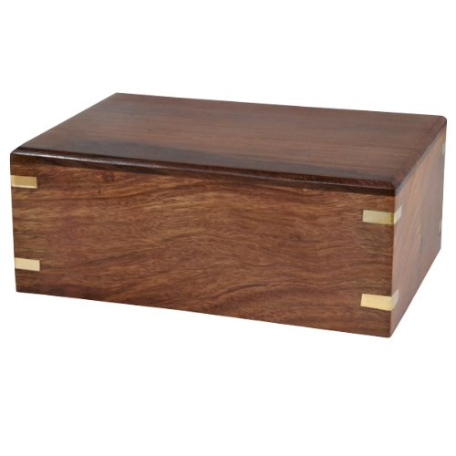Custom Wood Box Pet Urn Small, Plain
