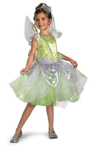 Disguise Girl's Disney Tinkerbell Tutu Prestige Costume, 3T-4T