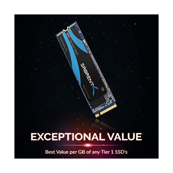 Sabrent 1TB Rocket NVMe PCIe M.2 2280 SSD Interno Unidad de Estado sólido de Alto Rendimiento (SB-ROCKET-1TB)
